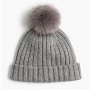 J. Crew Ribbed Beanie With Pom Pom